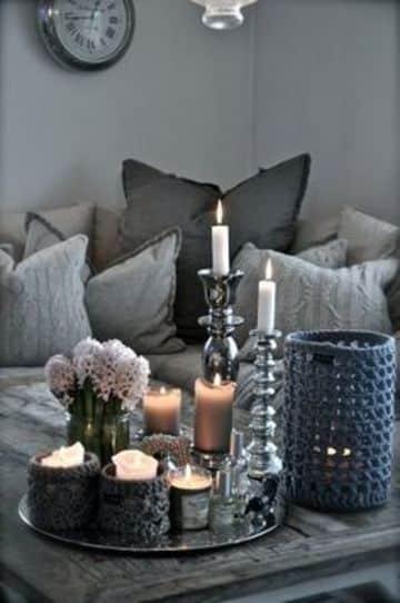 centros de mesa modernos para casa candelabros