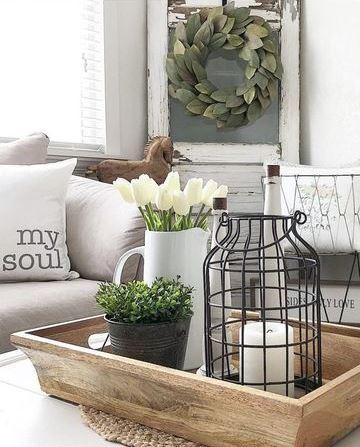 centros de mesa modernos para casa sencillo