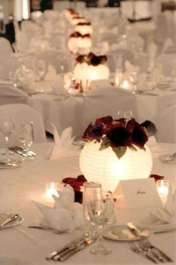 centros de mesa redondos para bodas