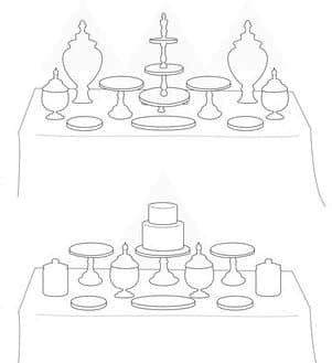 como decorar una mesa dulce con bases