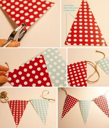 como hacer banderines de cumpleaños de papel
