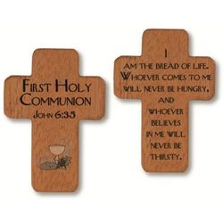 cruces para primera comunion de madera
