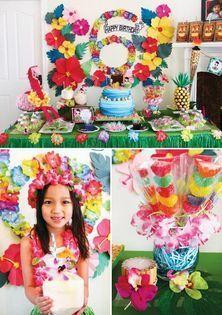 cumpleaños hawaiano infantil 6 años
