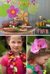 cumpleaños hawaiano infantil sencilla