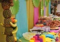 Una original y divertida decoracion tropical para fiestas
