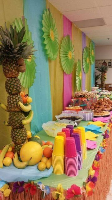 decoracion tropical para fiestas infantil