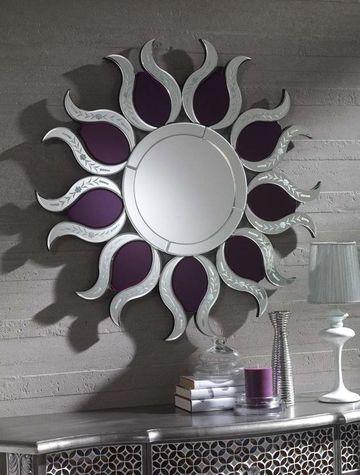 Dise os decorativos basados en espejos en forma de sol for Espejos de formas