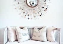 Diseños decorativos basados en espejos en forma de sol