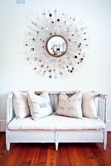 Diseos decorativos basados en espejos en forma de sol Centros de