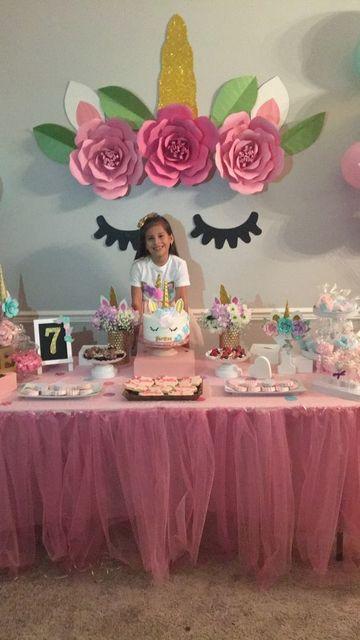 fiestas tematicas de unicornios niña 7 años
