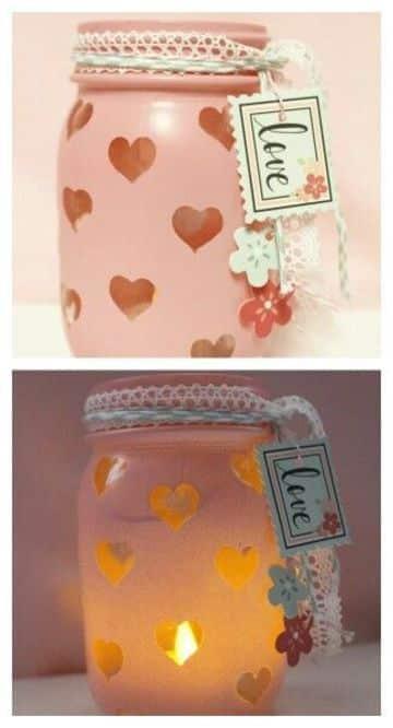 frascos de vidrio decorados para 15 años creativos