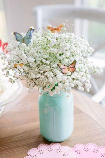 frascos de vidrio decorados para 15 años de primavera