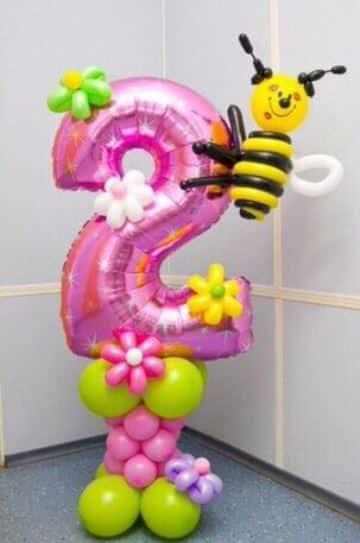 globos con numeros para cumpleaños 2