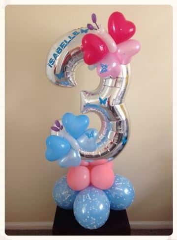globos con numeros para cumpleaños 3
