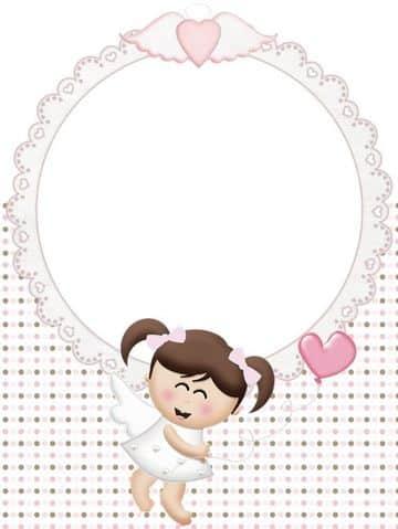 imagenes de bautizo para niña con marco