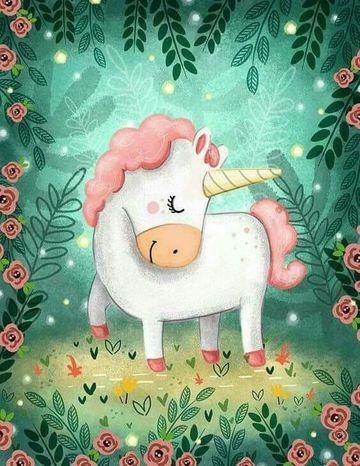 imagenes de unicornios infantiles con fondo