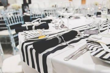 manteles de mesa para boda a rayas