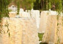 Hermosos diseños y telares en manteles de mesa para boda
