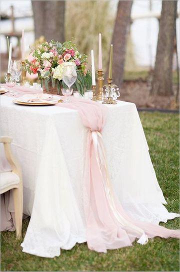 manteles de mesa para boda en jardin