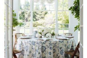 Diseños diversos de manteles decorativos para mesas