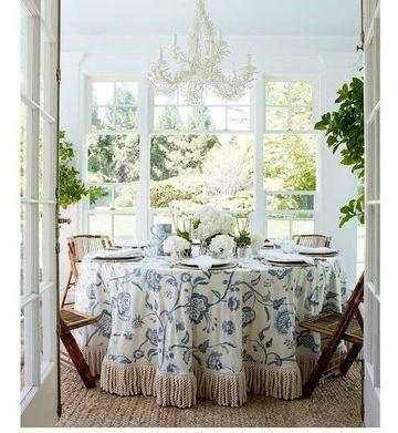 manteles decorativos para mesas con flecos