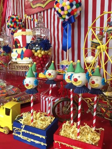 mesas decoradas para fiestas infantiles carnaval
