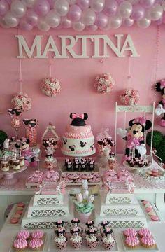 mesas decoradas para fiestas infantiles de niñas
