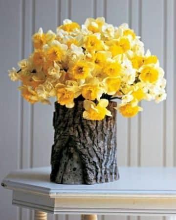 adornos con troncos de arboles para el hogar