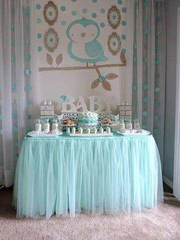 adornos para baby shower varon en casa