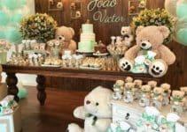 Decoracion elegante y adornos para baby shower varon