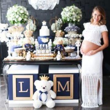 adornos para baby shower varon para la mesa