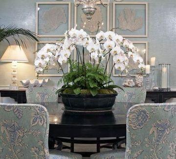 adornos para centro de mesa de sala de flores