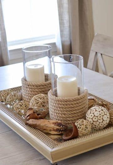 adornos para centro de mesa de sala y comedor