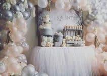 Divertidos y tiernos arreglos con globos para baby shower