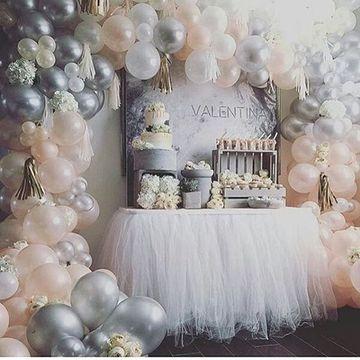arreglos con globos para baby shower niña