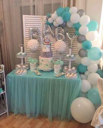 arreglos con globos para baby shower tierno