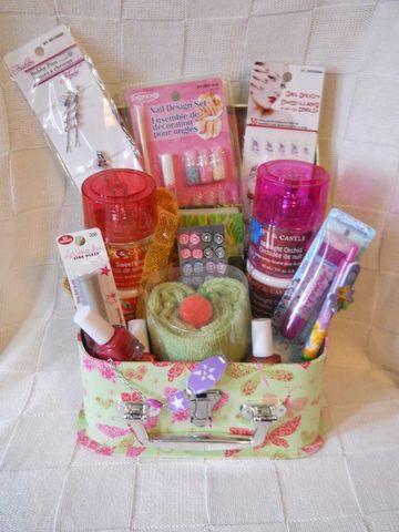 arreglos de cumpleaños para niñas de productos de belleza