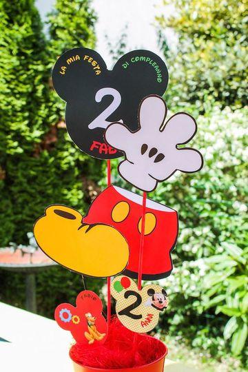 arreglos de mesa de mickey mouse para 2 años