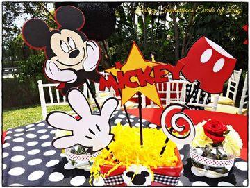 arreglos de mesa de mickey mouse para cumpleaños
