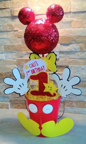 arreglos de mickey mouse para primer cumpleaños