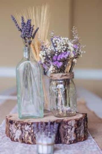 arreglos rusticos para bodas de centro de mesa