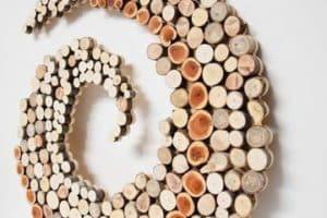 Hermosas y creativas artesanias con troncos de arboles