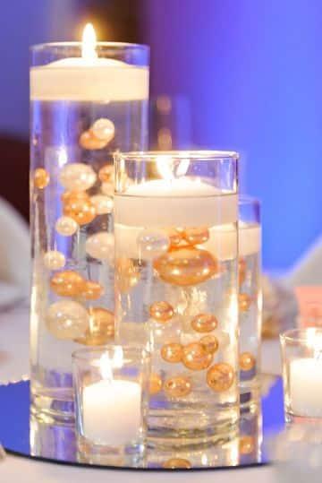 centro de mesa luminoso con velas