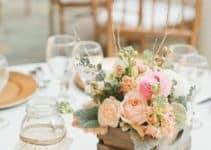 Hermosos centros de mesa artificiales para boda