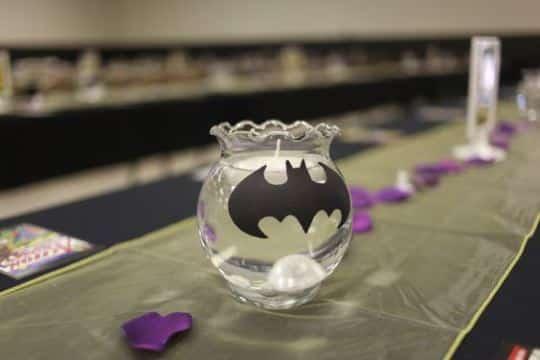 centros de mesa de batman para bodas