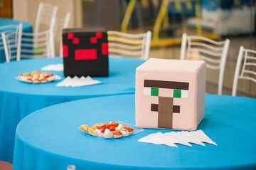centros de mesa de minecraft facil de hacer