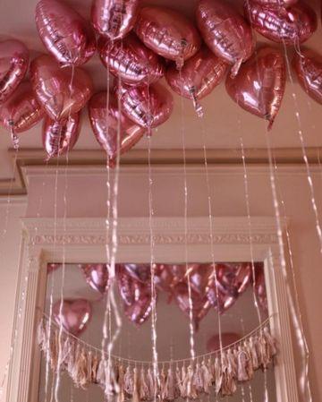 globos de corazon con helio metalizados