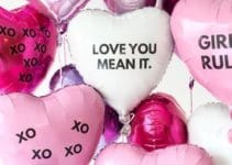 Tamaños y matices de globos de corazon con helio