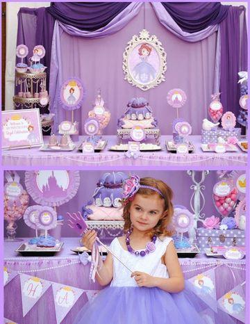 ideas para fiesta de princesa sofia cumpleaños