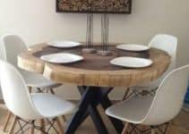 Diseños exclusivos de mesas de troncos naturales